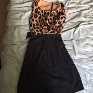 Brown and Leopard Dress